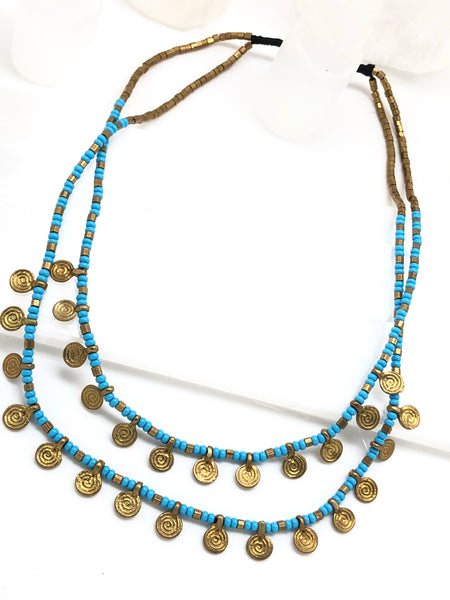 Double layer Tribal Necklace