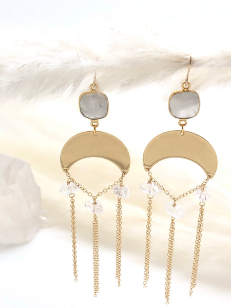Moonstone Droplet Earrings