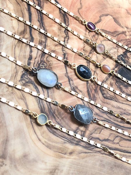 Assorted Stone Bezel choker