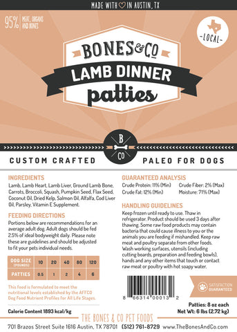 Lamb Dinner patties