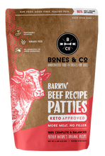 Load image into Gallery viewer, Barkin' Beef recipe patties