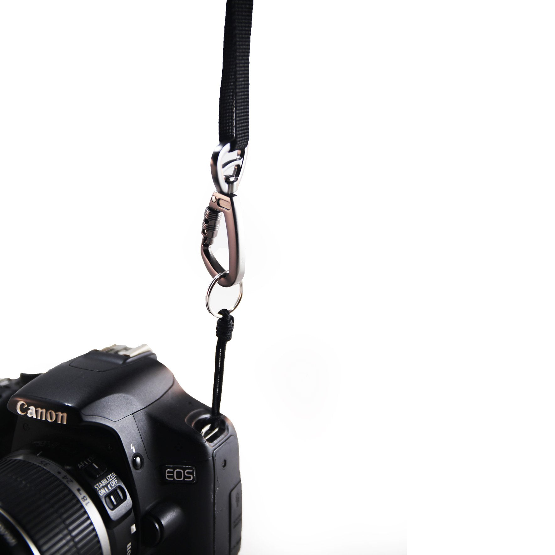 The Classic Leather Camera Strap - Steel Grey