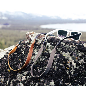 The Original Leather Sunglass Strap - True Brown