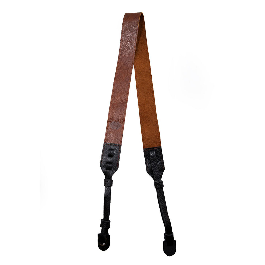 The Cross-Body Leather Camera Strap - True Brown