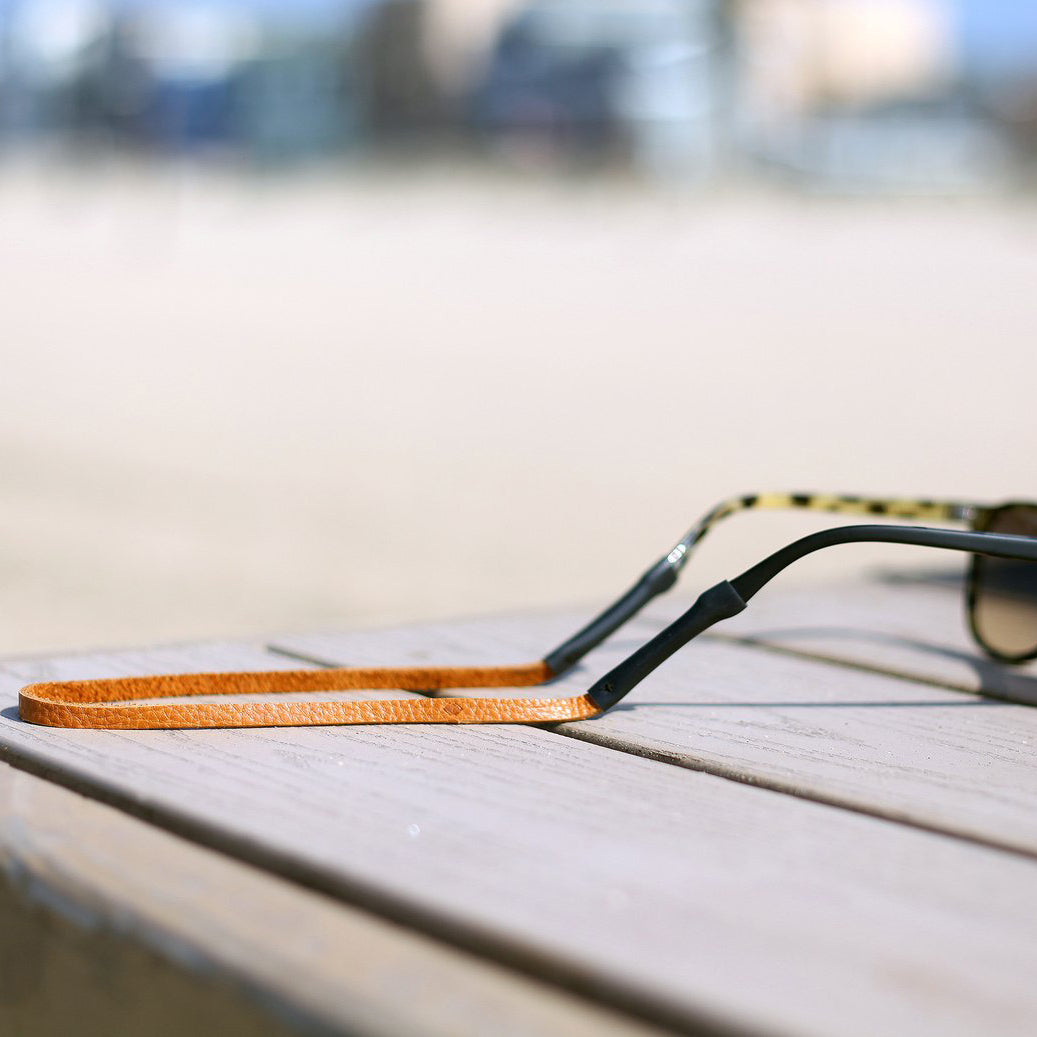 The Slim Leather Sunglass Strap -  Tan