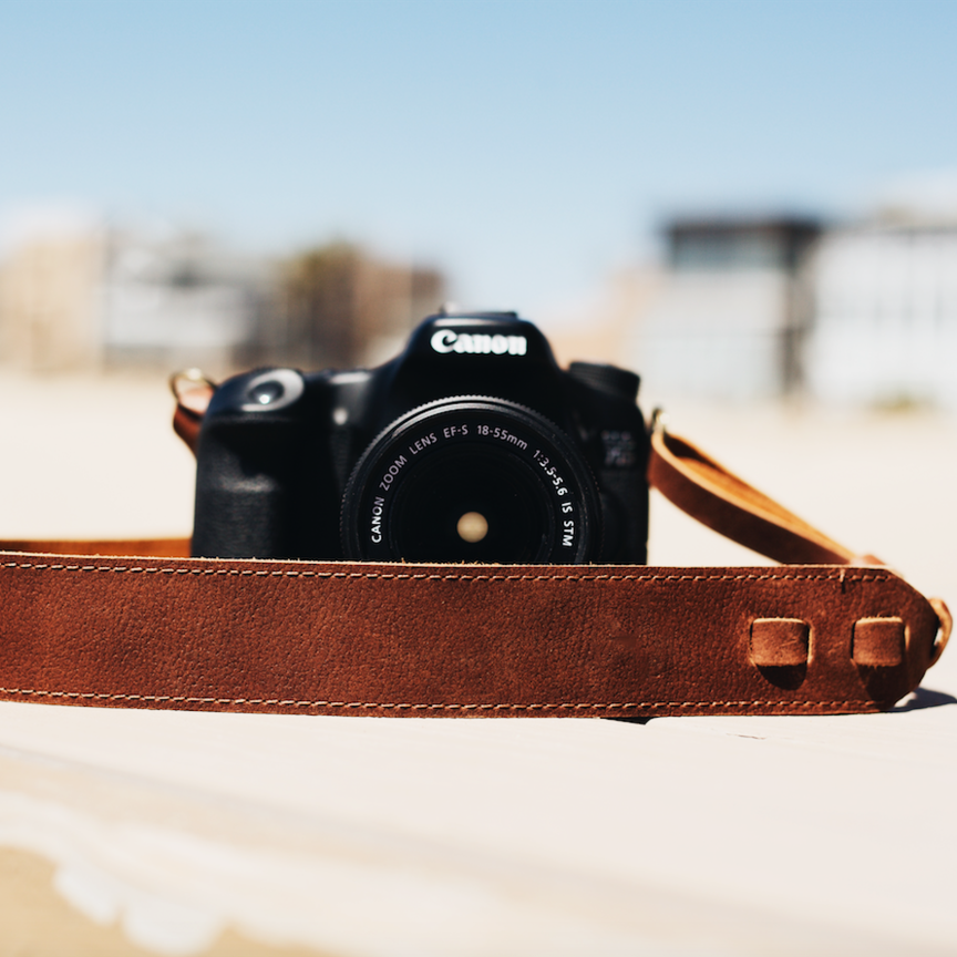 The Classic Leather Camera Strap - True Brown