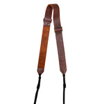 The Overlap Leather Camera Strap - Brown