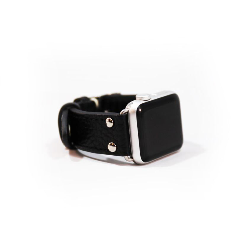 LEATHER APPLE WATCHBAND - BLACK