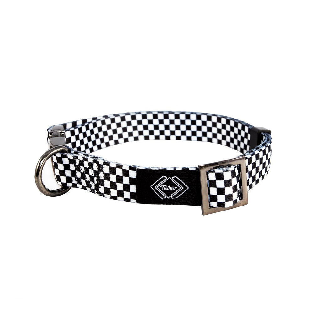 Checkered Dog Collar