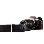Leather Wrist Camera Strap - Black