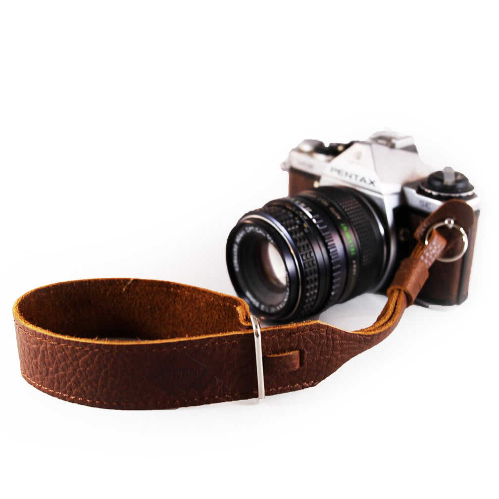 Leather Wrist Strap - True Brown