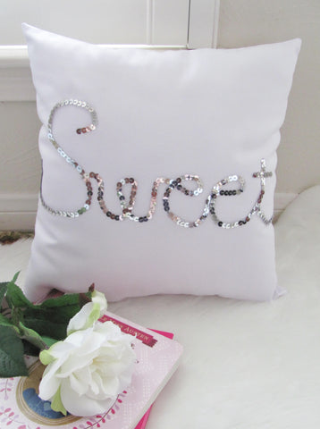 Silver sweet pillow