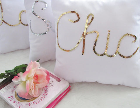 Chic gold pillow