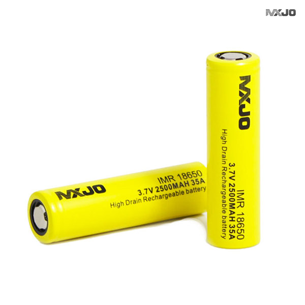 MXJO 18650 2800 mAh 35A High Drain Rechareable Flat Top Battery - smokefreerevolution