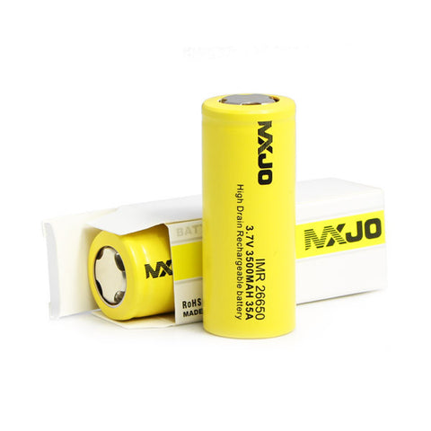 MXJO IMR 26650F 3500MAH 35A 3.7V Flat Top High Drain Battery - smokefreerevolution
