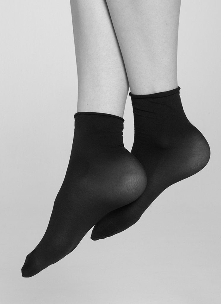 2-PACK JUDITH SOCKS BLACK/BLACK Socks Swedish Stockings