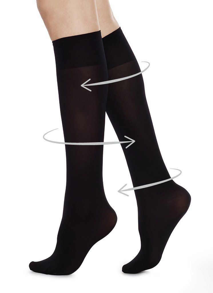 IRMA SUPPORT KNEE-HIGHS BLACK Knee High Stockings Swedish Stockings ONE SIZE