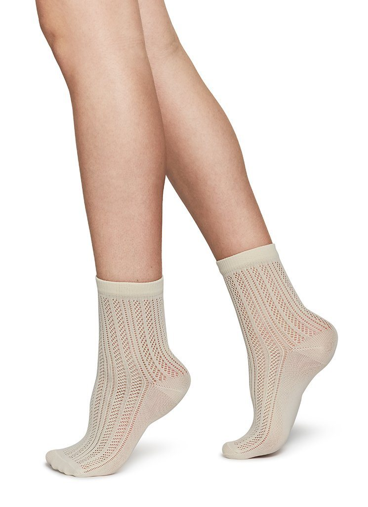 KLARA KNIT SOCKS IVORY Socks Swedish Stockings ONE SIZE