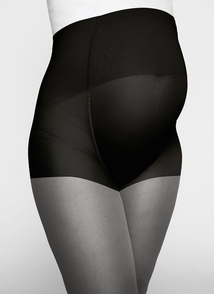 AMANDA MATERNITY TIGHTS BLACK Premium Stockings Swedish Stockings