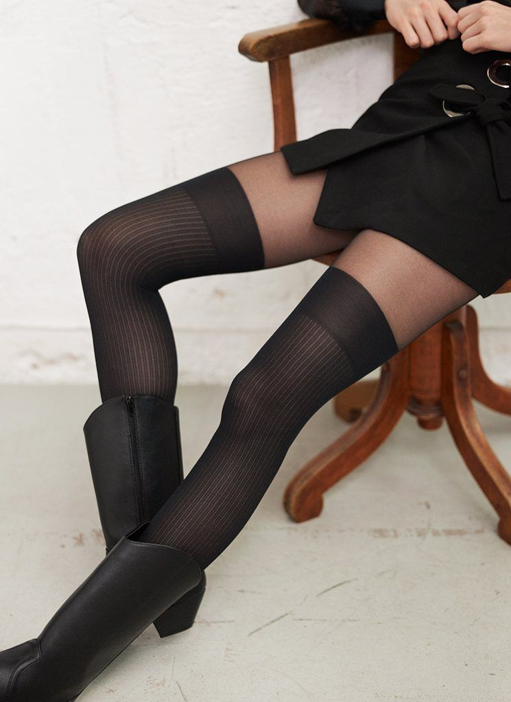 DAGMAR OVER-KNEE TIGHTS Pattern Tights Swedish Stockings