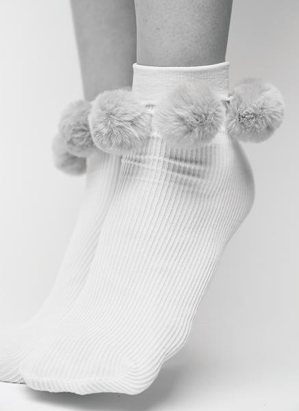 EBBA POM-POM SOCKS DUSTY ROSE Socks Swedish Stockings