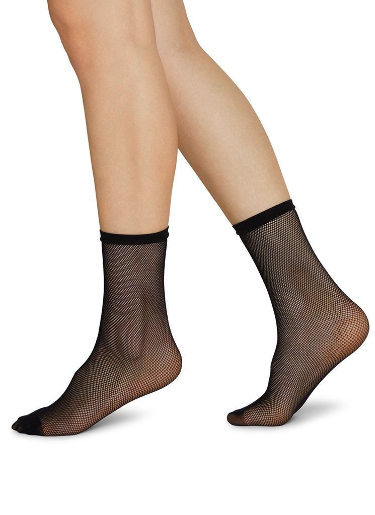 ELVIRA NET SOCKS BLACK Socks Swedish Stockings
