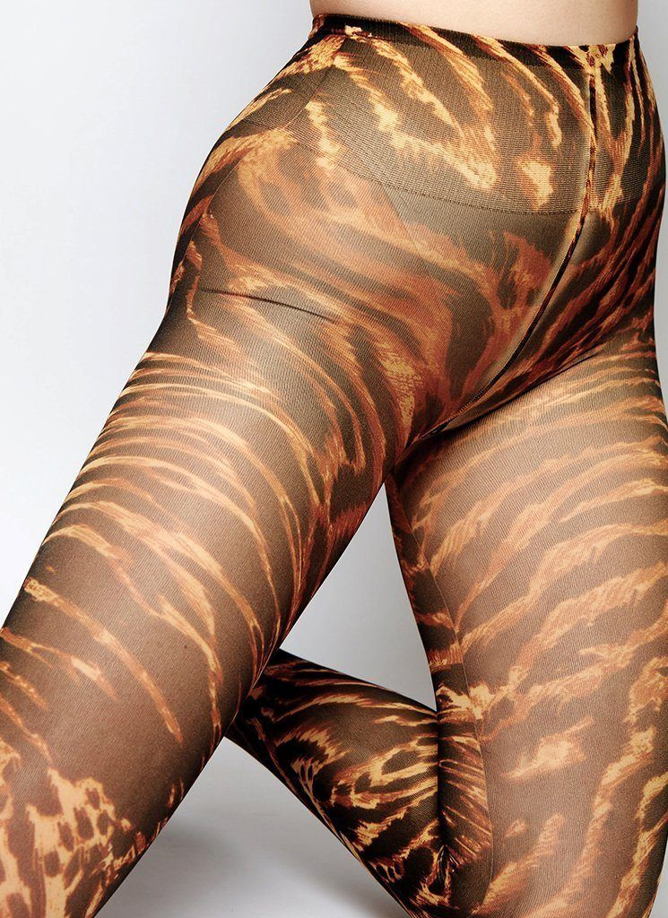 GANNI TIGER'S EYE TIGHTS Tights Swedish Stockings
