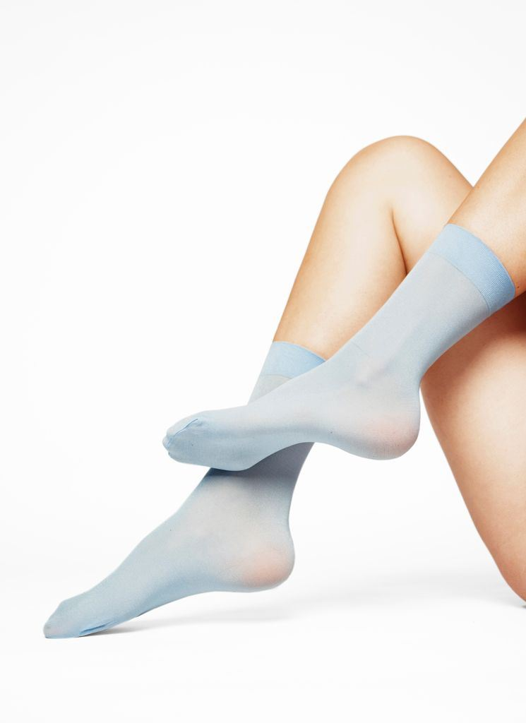 MALIN SHIMMERY SOCKS LIGHT BLUE Socks Swedish Stockings