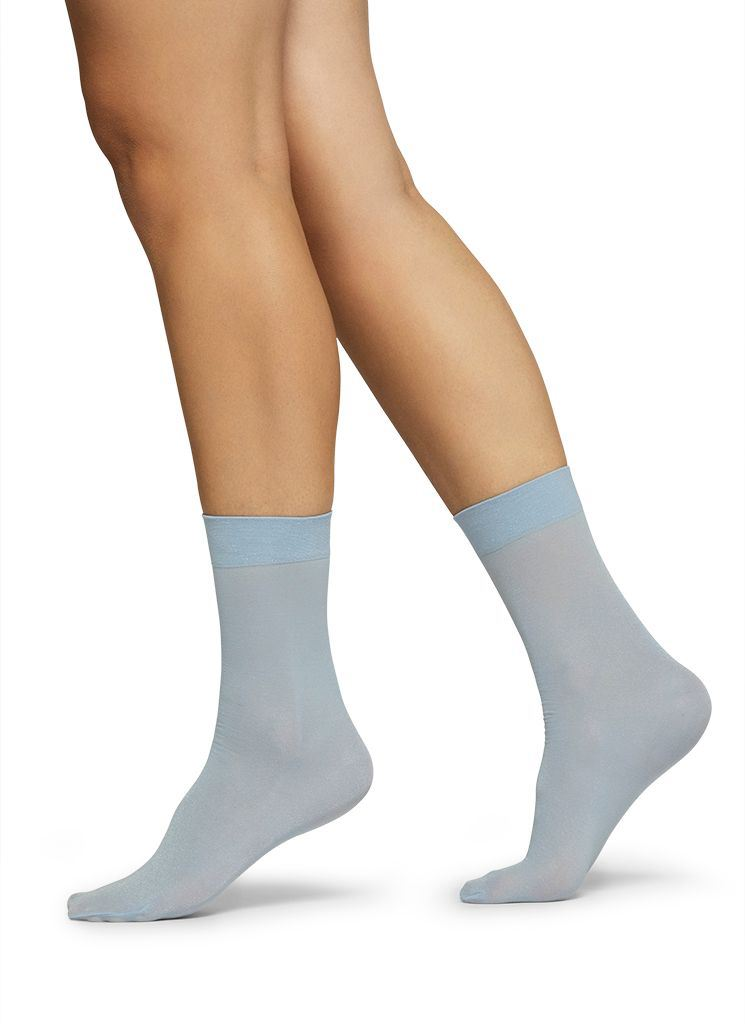 MALIN SHIMMERY SOCKS LIGHT BLUE Socks Swedish Stockings ONE SIZE