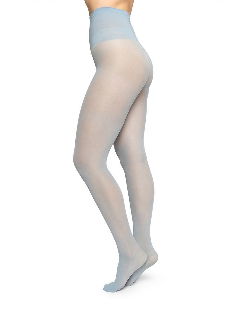 SVEA PREMIUM TIGHTS LIGHT BLUE Basic Tights Swedish Stockings S