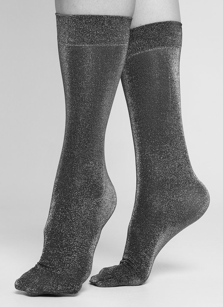 INES SHIMMERY SOCKS WINE Socks Swedish Stockings