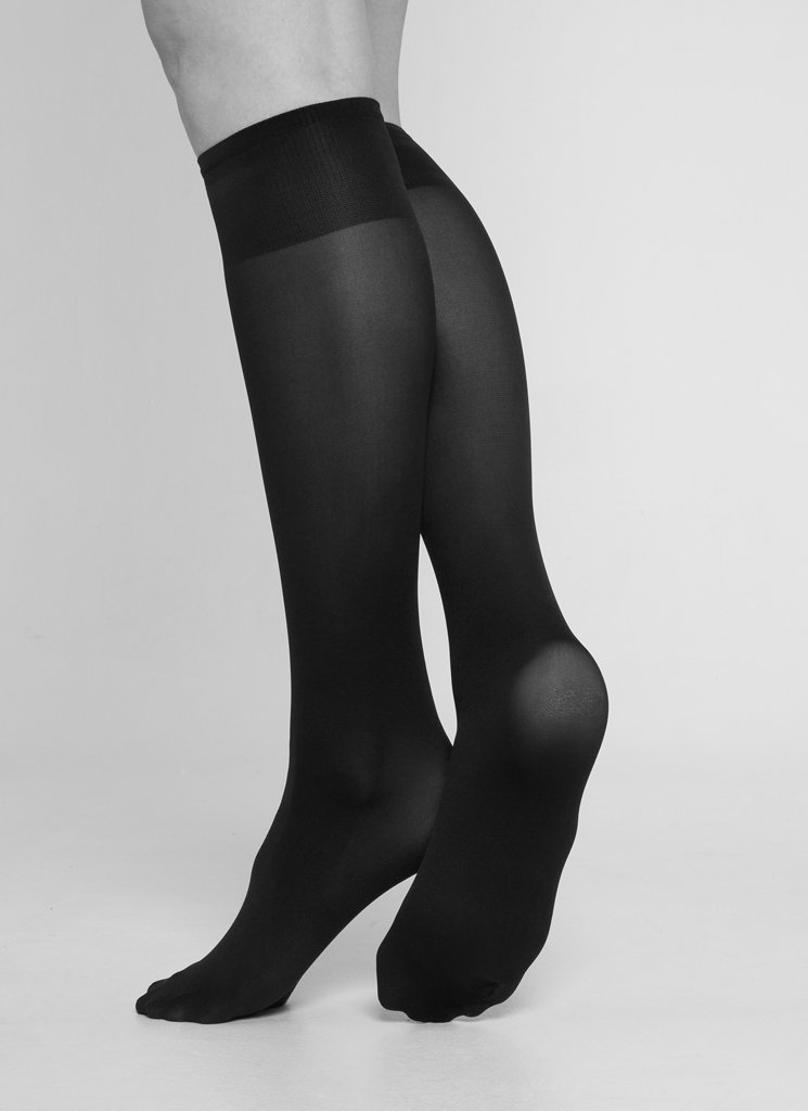 IRMA SUPPORT KNEE-HIGHS BLACK Knee High Stockings Swedish Stockings