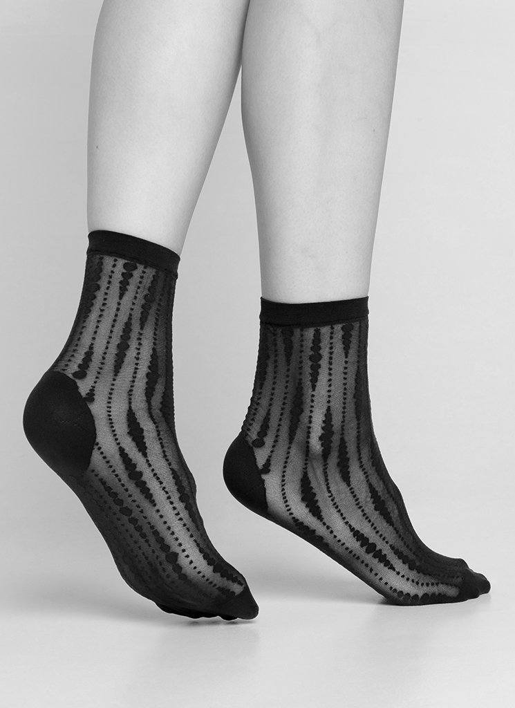 JOSEFIN DROP SOCKS BLACK Socks Swedish Stockings