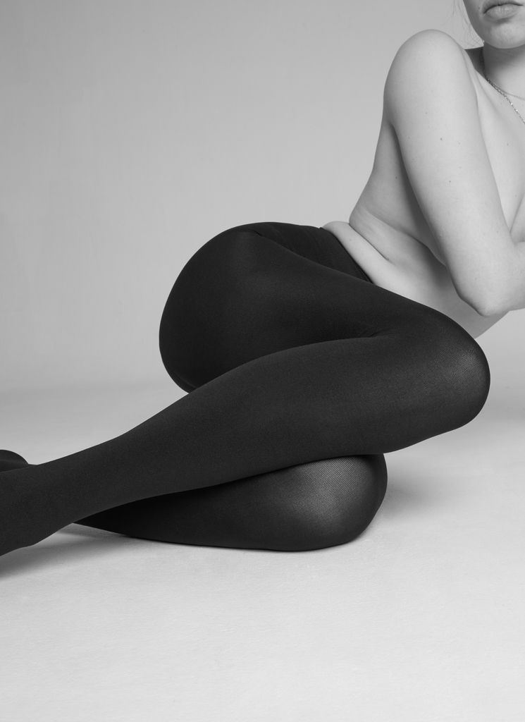 LIA PREMIUM TIGHTS NEARLY BLACK Premium Stockings Swedish Stockings
