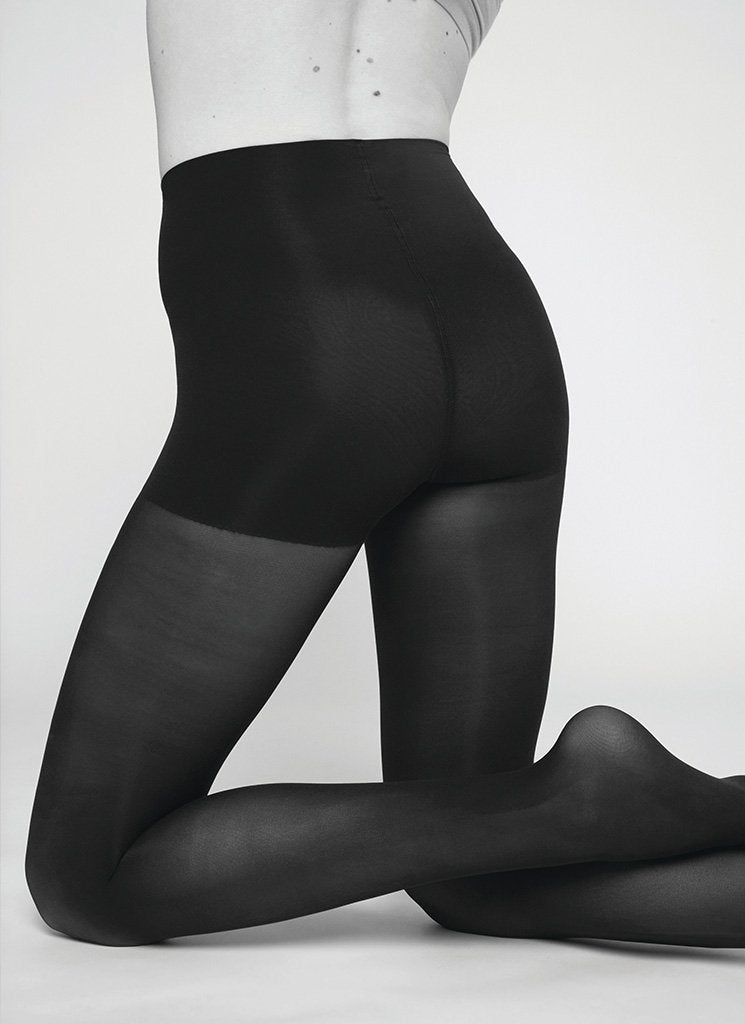 NORA CONTROL TOP TIGHTS BLACK Premium Stockings Swedish Stockings