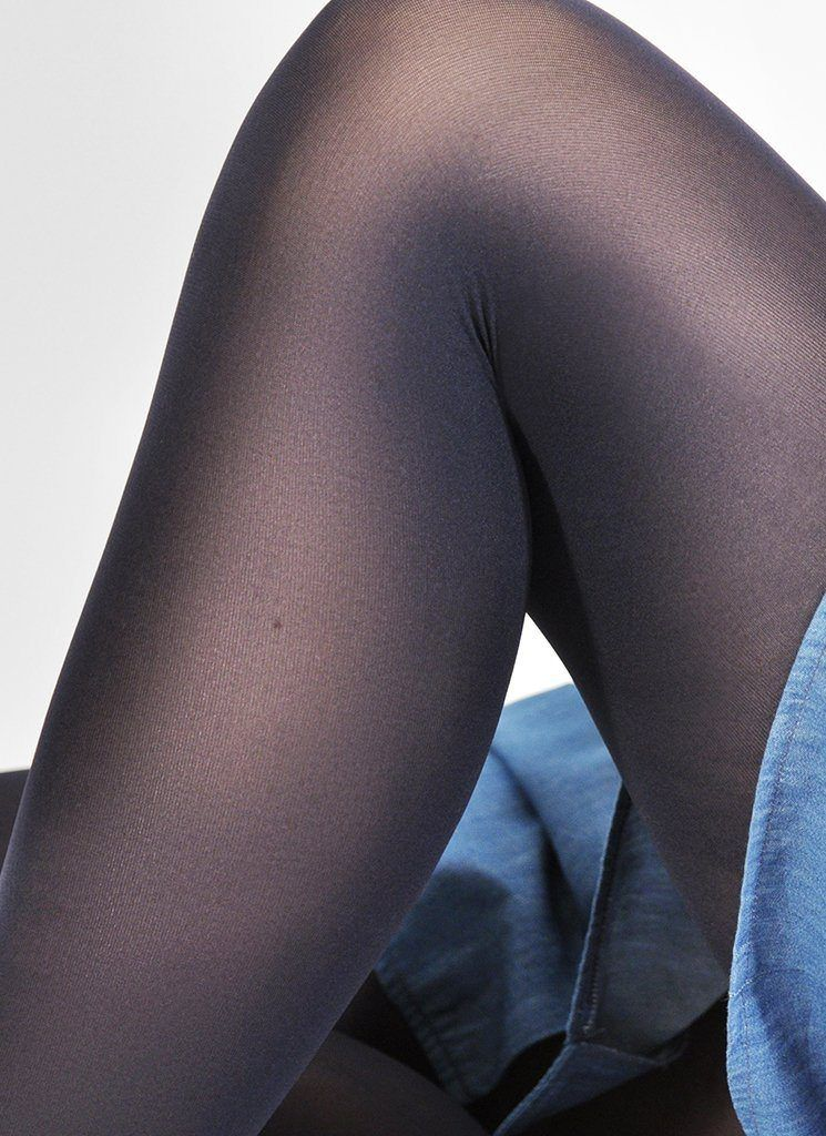 OLIVIA PREMIUM TIGHTS NAVY Premium Stockings Swedish Stockings