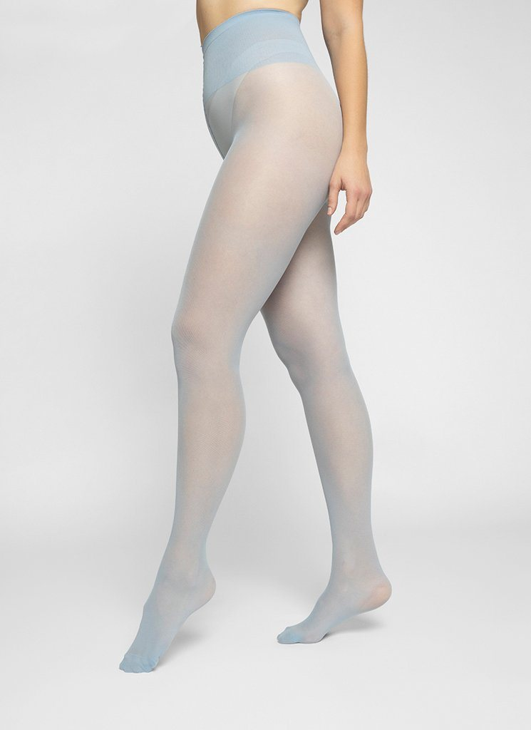 SVEA PREMIUM TIGHTS LIGHT BLUE Basic Tights Swedish Stockings