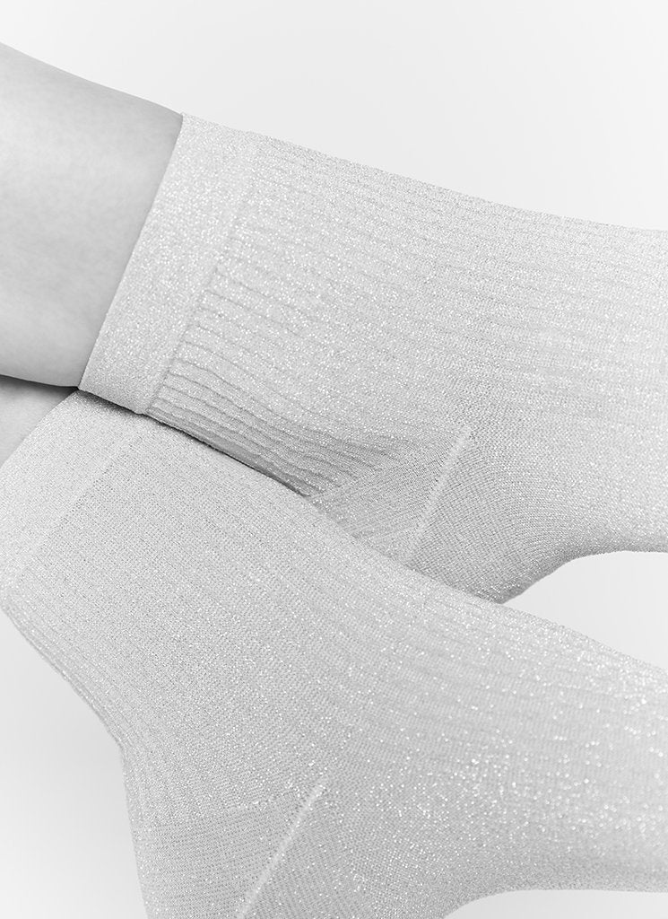 STELLA SHIMMERY SOCKS LIGHT GREY Socks Swedish Stockings