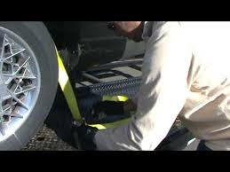 The proper straps to use for auto or vehicle hauling or towing