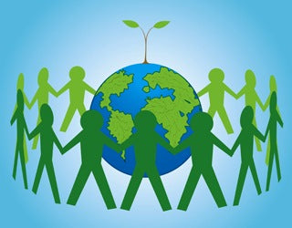 Image of Environmentally Friendly Green Movement People Responsible for Earth