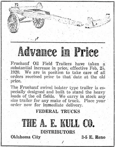 Old Newspaper Ad for One of the First Trailers