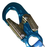 "1"" x 20 ft. Retractable Web Lifeline w/ Aluminum Carabiner & Hook - ratchetstrap-com.myshopify.com"