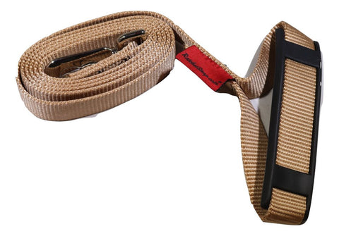"1"" x 5.5 ft. Tan Pet Leash with Snap Hook and Comfort Hand Grip - ratchetstrap-com.myshopify.com"