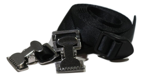 "1"" x 8 Ft Adjustable Stainless Steel Alligator Clip Tie Strap - ratchetstrap-com.myshopify.com"