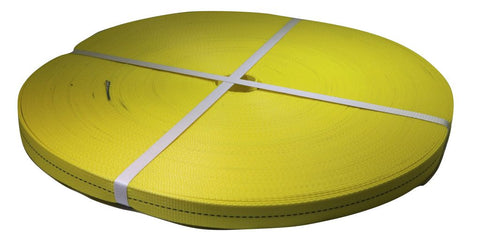 1 Yellow Premium Heavy Duty Webbing - 3,500 Lb. Mbs