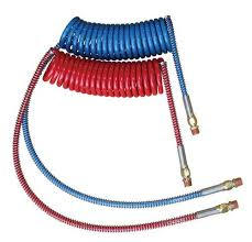 "COILED NYLON AIR BRAKE KIT 15' AIR SET w/40"" LEADS 