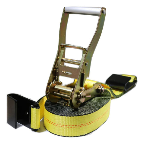 2 Heavy Duty Flatbed Ratchet Strap W/ Flat Hooks 27 Ft