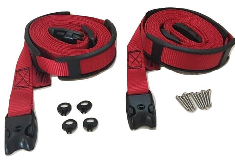 2 Pc Wind Strap Kit Hot Tub Secure Acw Loc Spa Hurricane Tie Down - Red 8 Ft Red Acw Spa Cover