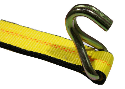 2 X 10 Ft. Yellow Strap W/ Wire Hooks Towing