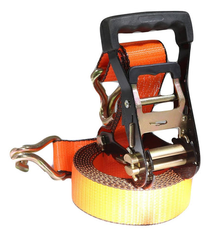 2 X 12 Ft. Ratchet Strap W/wire Hooks - Orange Scuff Edge® Contractor